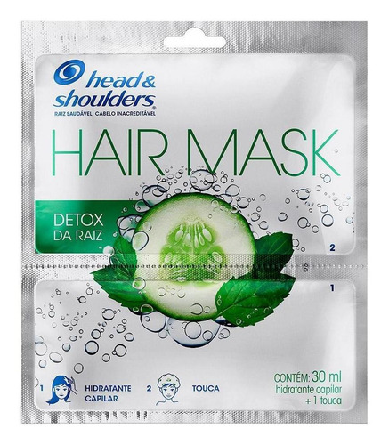 Máscara Capilar Head & Shoulders Detox Raiz 30ml Com Touca