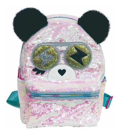 Mochila Cresko Panda Lentejuelas Escolar 16 Ck053 Mapleweb