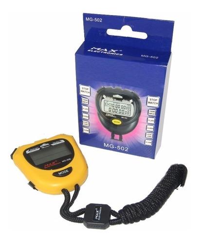 Cronometro 10 Memorias Calendario Hora Alarm Max Electronics