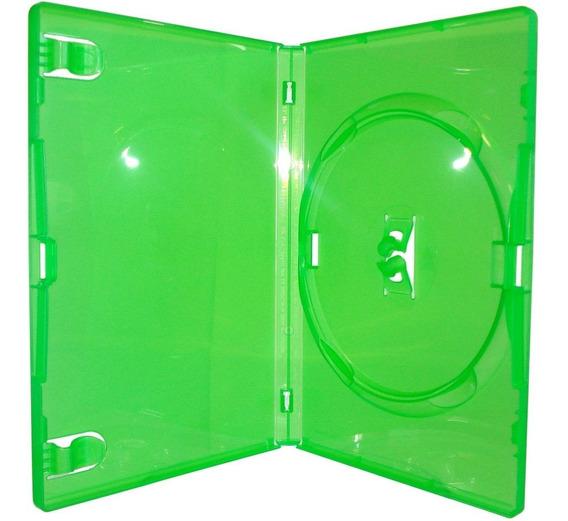 30 Estojo Verde Capa Dvd Filme X-box Amaray 14mm Novidade