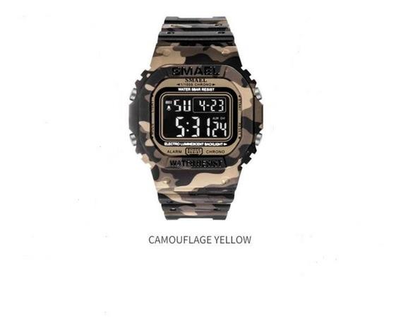 Relógio Masculino Militar Shock Esportivo Digital Smael Chro