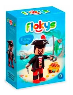 Flokys Muñeco Articulado Pirata Eugenio Tipo Playmobil Smile