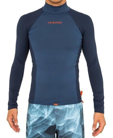 Camiseta De Lycra Com Proteção Solar Uv50 Surf Masculina