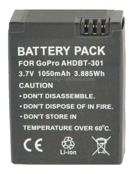 Bateria P/gopro Hero Hd + Hero3 Hero3+ahdbt-301 3.7v 1050mah
