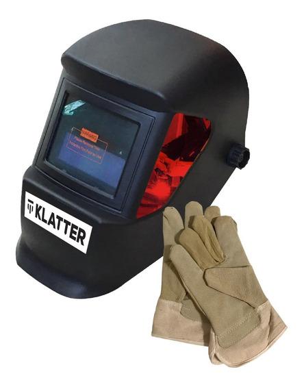 Máscara Para Soldar Fotosensible + Guantes Klatter