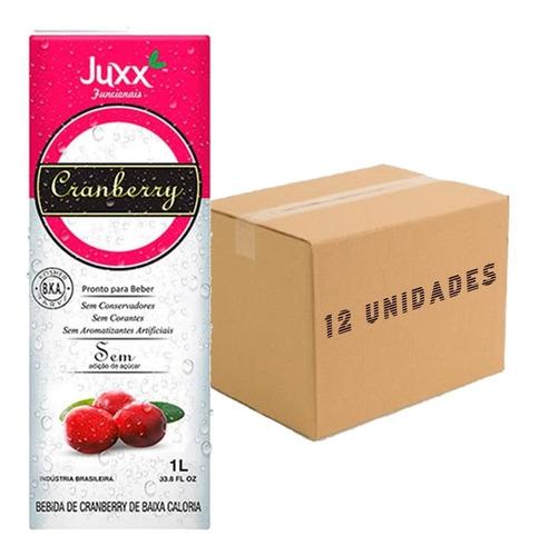 Imagem 1 de 4 de 12x Suco De Cranberry Zero Juxx 1 Litro