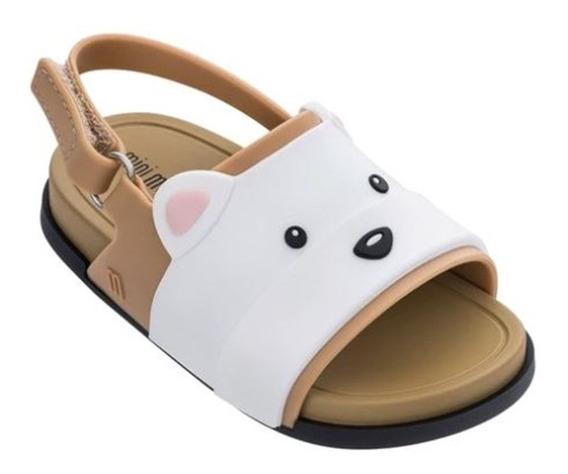 Mini Melissa Beach Slide Sandal Bear Marrom - Original - Nf