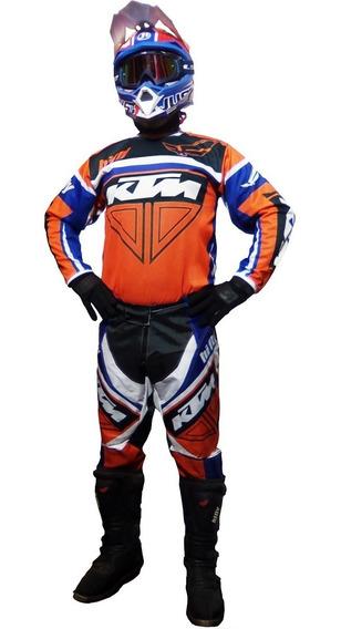Conjunto Motocross Ktm Naranja Cross Enduro Atv En Fas Motos
