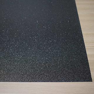 Chapa Placa Abs Dupla Camada Preta Com Glitter 1200x600mm