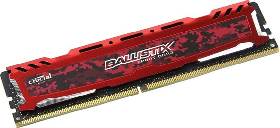 Memoria Crucial Ballistix Red Ddr4 8gb 2400m Gamer