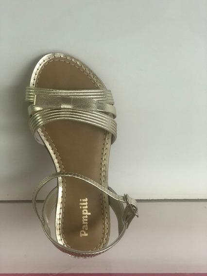 Sandália Pampili Cherrie Dourada