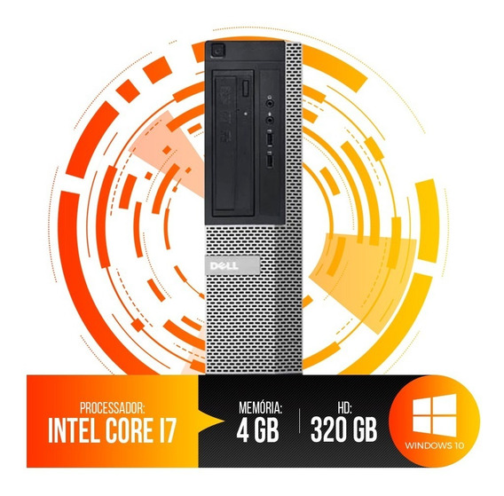 Pc Dell Optiplex Intel Core I7, 4gb Ram Ddr3, Hd 320gb