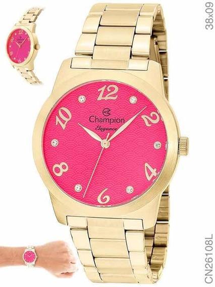 Relógio Champion Dourado Feminino Cn26108j