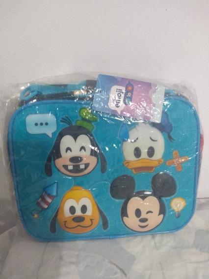 Bolso Emoji Mickey Azul/rosa 100%original