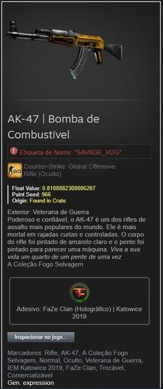 Skin Cs Go Ak-47 | Bomba De Combustível Bs