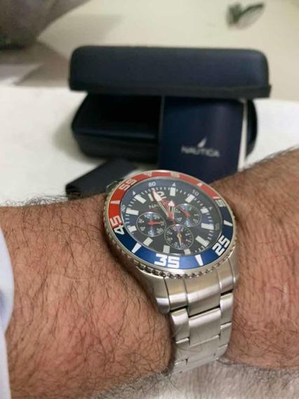Relógio Náutica Muito Novo Completo.Oportunidade.