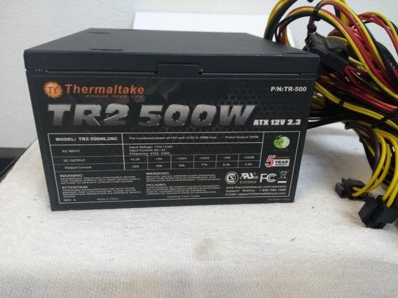 Fonte Atx Thermaltake 500w 12v Tr2 2.3 20 Pinos Pfc Tr-500