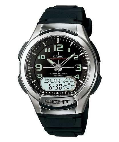 Relógio Casio Standard Masculino Anadigi Preto Aq-180w-1bvdf