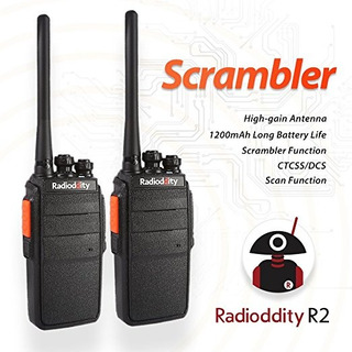 Radioddity R2 Uhf 400-470mhz Radio De Dos Vías 16 Ch Scrambl