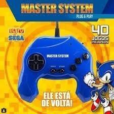 Video Game Master System Plug & Play 40jogos