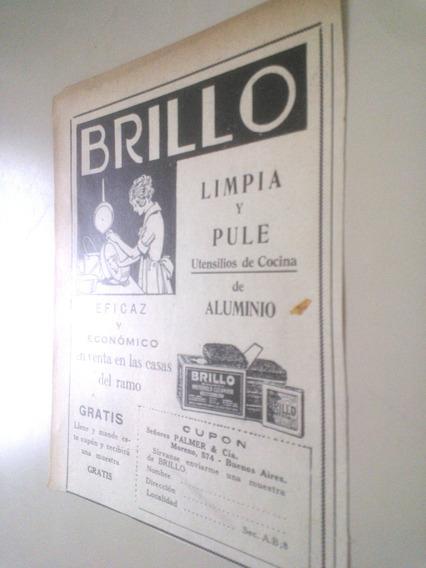 Antigua Publicidad Brillo - Articulo Limpieza Cocina 1930s