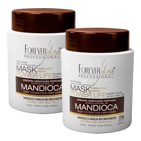 02 Forever Liss Máscara Hidratante Mandioca Power Life 250g