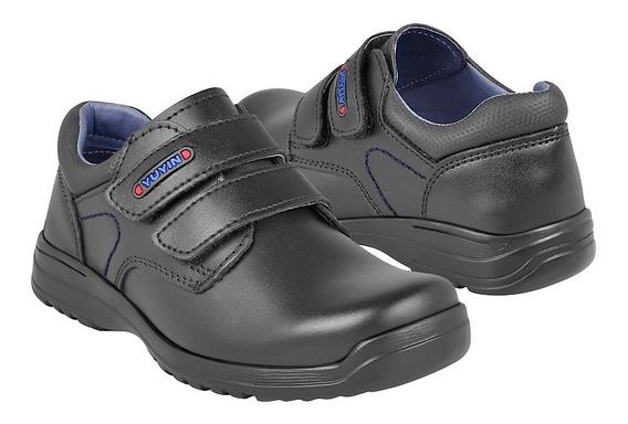 Zapato Escolar Para Niño Yuyin 1281 Negro