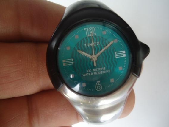 Relógio Timex Original Semi Novo Inox E Borracha Bateria