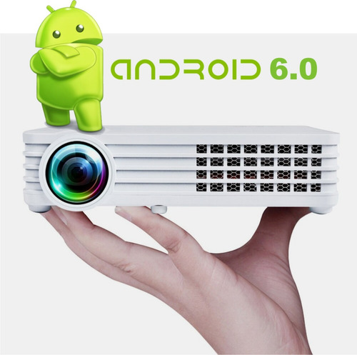 Proyector Mini Led 6000 Lumens Android Wifi 4k 12cuotas S/in