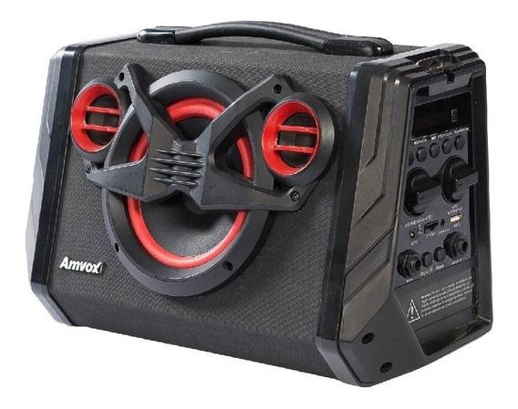 Caixa Amplificada Bluetooth Amvox 80w Black