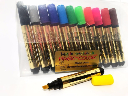 Promo.conjunto Magic Color Série Ouro De Marcadores 12 Cores