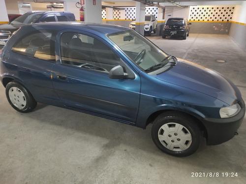 Imagem 1 de 7 de Chevrolet Celta 2003 Azul 1.0 Vhc 9.000km + Direção