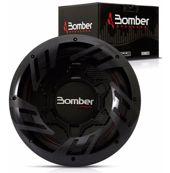Subwoofer Bomber Carbon 12 250w Rms Woofer Spl Audio Car