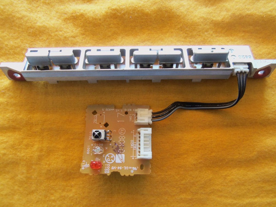 Teclado + Sensor Do Remoto Tv Philips 37pfl5332/78 37pfl5332