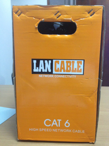 Cable Utp Cat 6 305 Metros Lan Cable 100% Cobre