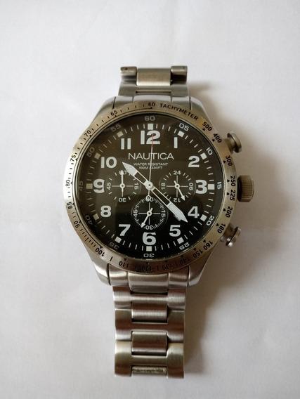 Relógio Náutica Original Modelo A18592g Pulseira De Aço