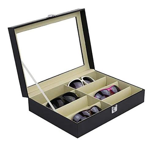 Organizador De Gafas Con 8 Ranuras 13.2x 9.5x 3.2 Pulgadas