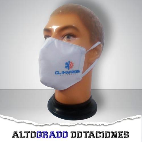 100 Tapabocas Personalizados Con Logo Estampado Reutilizable