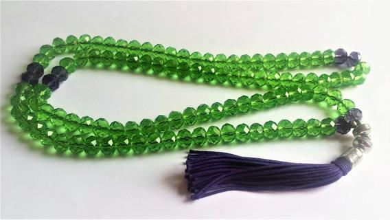Japamala 108 Cristal Multifacetado Verde E Ametista Prayers