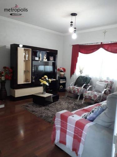 Sobrado Com 3 Dormitórios À Venda, 136 M² Por R$ 650.000,00 - Osvaldo Cruz - São Caetano Do Sul/sp - So0241