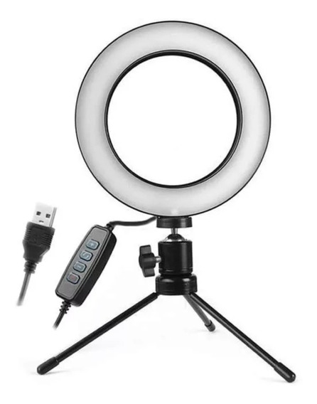 Ring Light Led Selfie 8 Com Tripé Luz P\ Celular Blogueira Foto