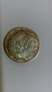 Moneda De Plata Ley 0.720 - 50 Centavos - Año 1945 - 8.33 G