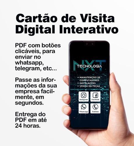 Imagem 1 de 4 de Cartão De Visita Digital Pdf Interativo