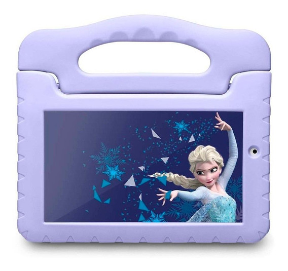 "Tablet com capa Multilaser Disney Frozen Plus 7"" 16GB azul-claro com memória RAM 8GB"