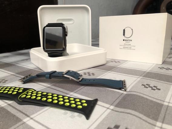 Apple Watch Space Black 42mm Series 2 +2 Correas De Regalo