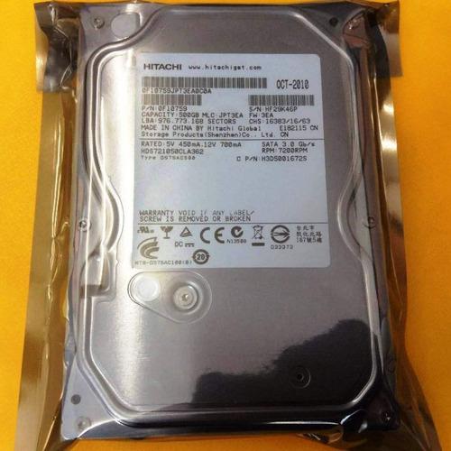 Imagen 1 de 1 de Disco Duro Hitachi 500 Gb Nuevo