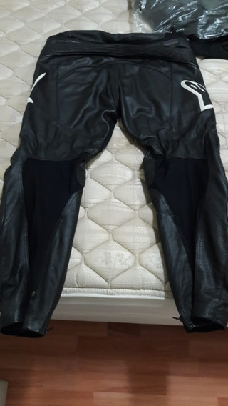 Pantalon Moto Track Leather Alpinestar Como Nuevo