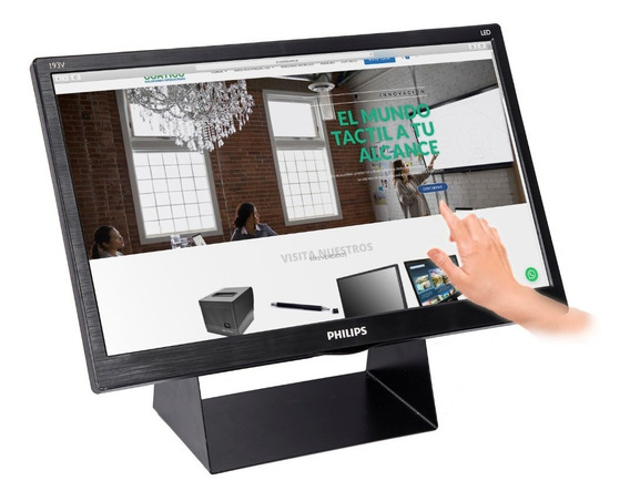 Monitor Táctil 19 Hdmi Touchscreen Kiosko Totem Con Soporte