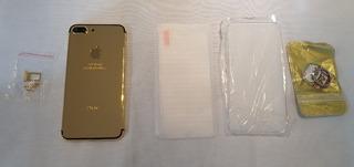 Carcaça iPhone 7 Plus Banho Ouro 24k Dourada Pronta Entrega