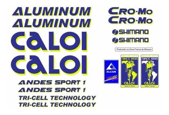 Adesivo Bicicleta Antiga Caloi Aluminum Andes Sport 1